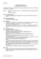 Planning Committee Meeting 03.03.2014