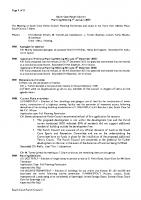 Planning Committee Meeting 07.01.2013