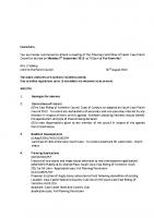 Agenda – Planning Committee – 05.09.2016