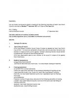 Agenda – Planning Committee – 07.11.2016