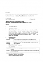 Agenda – Planning Committee – 09.06.2016