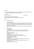 Agenda – Planning Committee – 15.8.2016