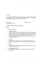 Agenda – Finance & General Policy – 23.11.2015