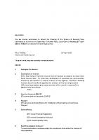 Agenda – Finance & General Policy – 27.04.2015
