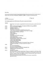 Agenda – Full Council – 15.05.2017