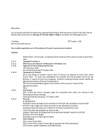 Agenda – Full Council – 17.10.2016