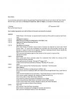 Agenda – Full Council – 18.09.2017