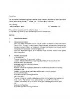 Agenda – Planning Committee – 02.10.2017