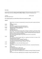 Agenda – Full Council – 18.04.2016