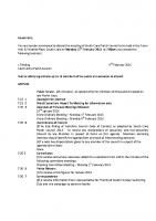 Agenda – Full Council – 15.02.2016