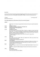 Agenda – Full Council – 20.02.2017