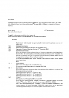 Agenda – Full Council – 19.01.2015