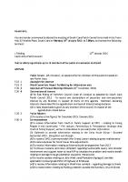 Agenda – Full Council – 18.01.2016