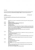 Agenda – Full Council – 16.01.2017