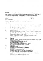 Agenda – Full Council – 18.07.2016