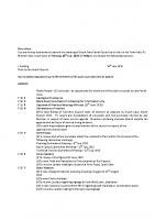 Agenda – Full Council – 20.07.2015