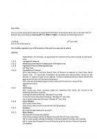 Agenda – Full Council – 20.06.2016