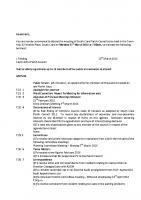 Agenda – Full Council – 21.03.2016