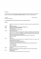Agenda – Full Council – 20.03.2017