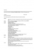 Agenda – Full Council – 16.05.2016