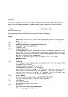Agenda – Full Council – 21.11.2016