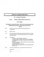 Agenda ANNUAL PARISH MEETING 1505.2018