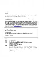 Full Council Meeting – 21.09.2020