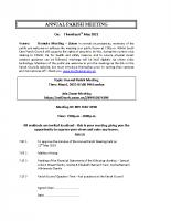 Agenda ANNUAL PARISH MEETING19 06.05.2021